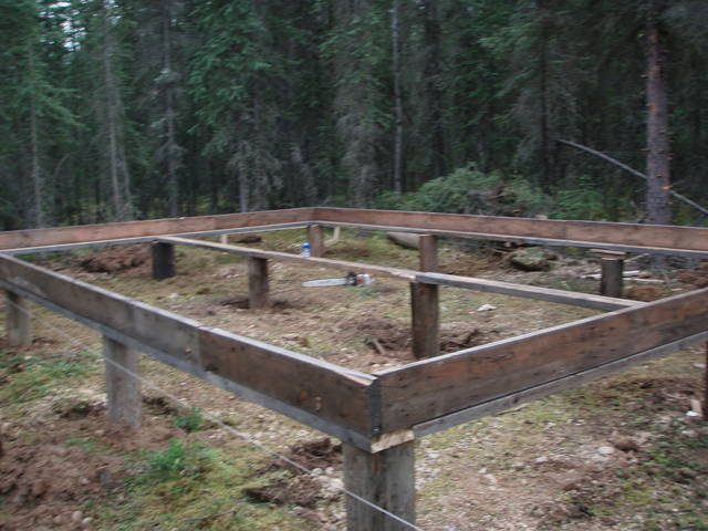 Cabin Construction Foundation Help Wilderness Trapping