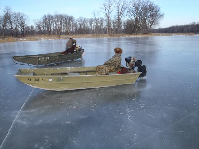 Ice motor trapper talk forums for Ice scratcher boat motor for sale