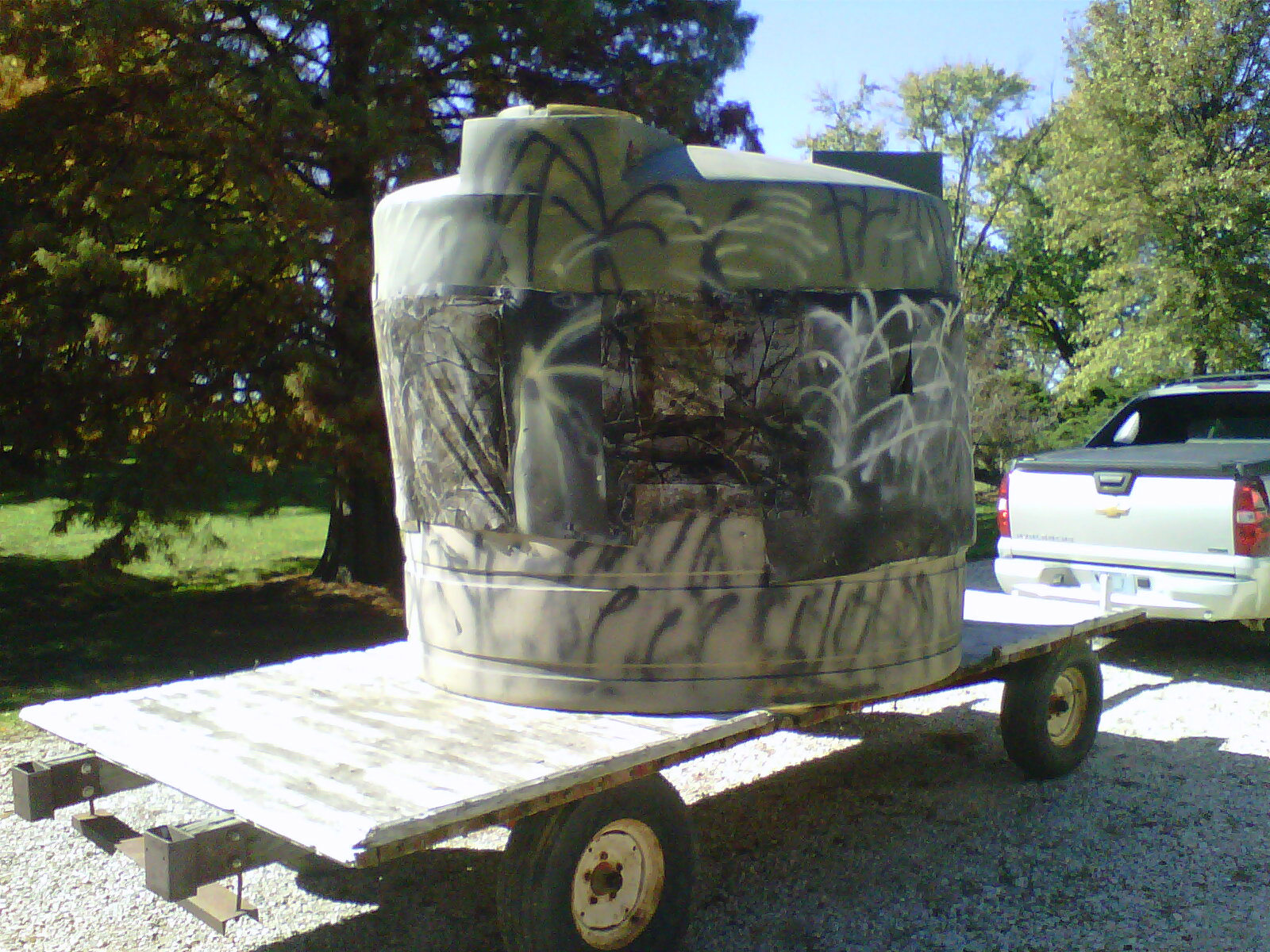 Water Tank Deerstand Trapper Talk Trapperman Com Forums