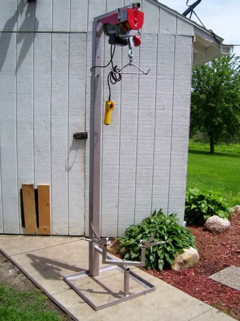 When you are skinning with the electric winch what do you use to tie