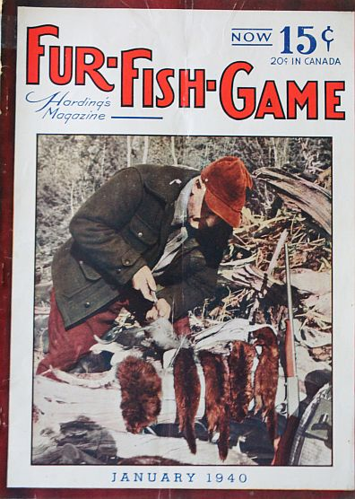 Fur fish game jan 1940 v e lynch article pics trap for Fur fish and game