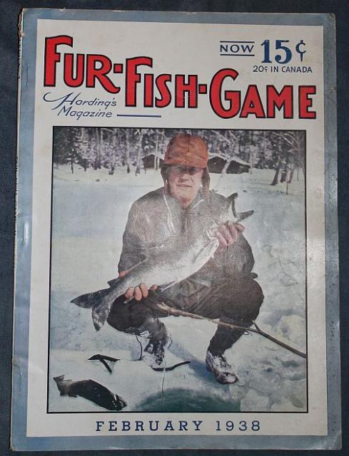 Fur fish game feb 1938 far north trapping mink trap for Fur fish and game
