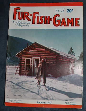 Fur fish game january 1951 bill nelson trapping trap for Fur fish and game