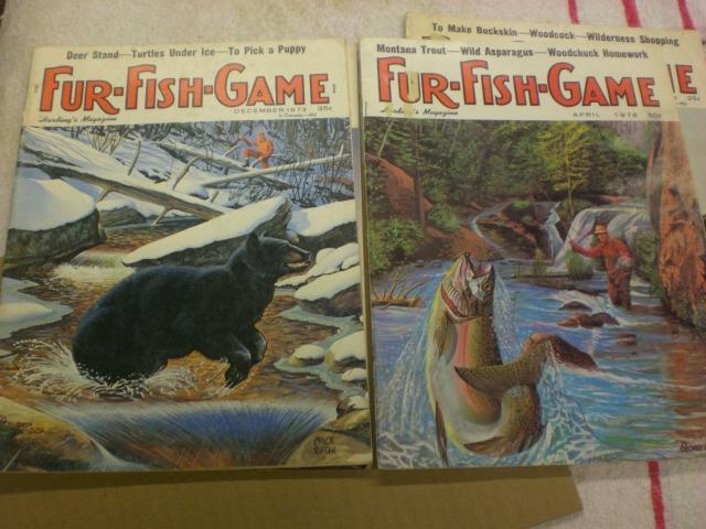5 issues 1970 39 s fur fish game magazine trap shed for Fur fish and game
