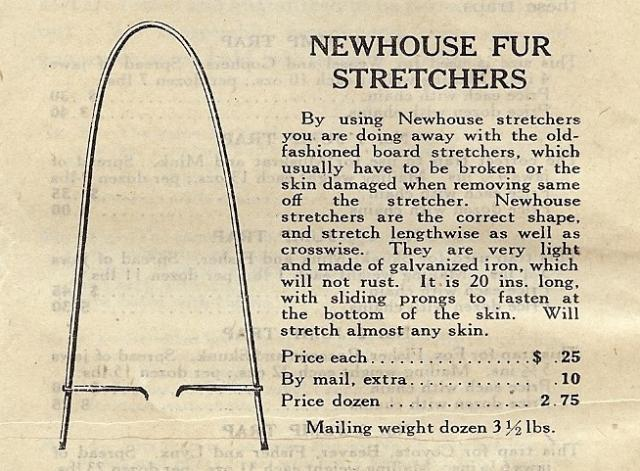 Wanted newhouse fur stretcher trap shed for Newhouse sheds